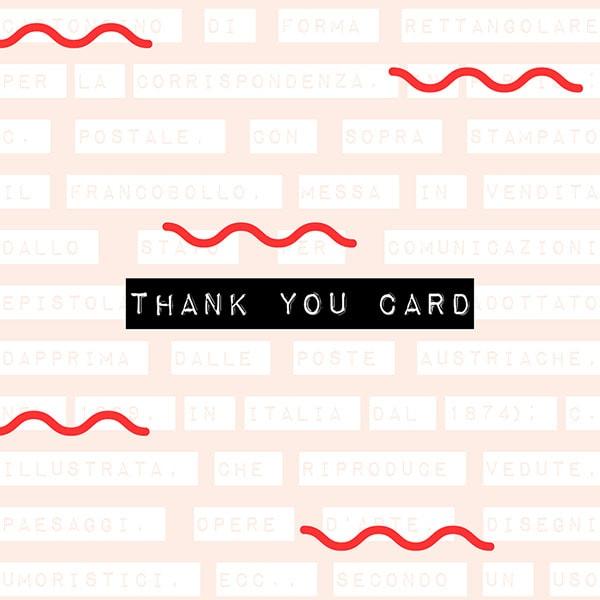 Il dizionario di grafica: thank you card. Dal blog di Marianna Milione