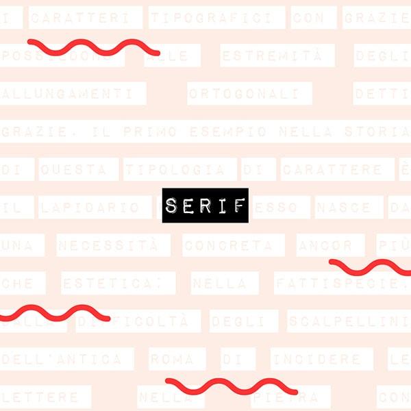 Il dizionario di grafica: serif. Dal blog di Marianna Milione