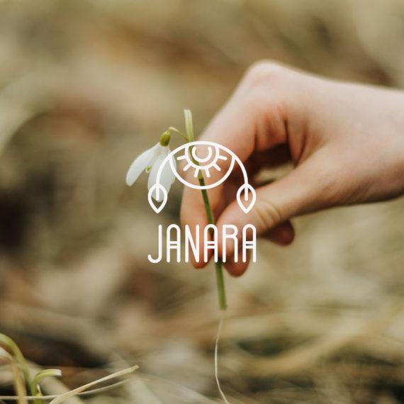 Identità grafica realizzata per l'azienda Janara. Design di Marianna Milione.