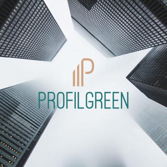 Identità grafica realizzata per l'azienda Profilgreen. Design di Marianna Milione.