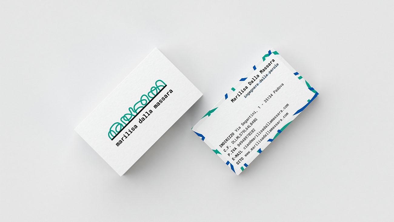 Biglietto da visita realizzato per l'identità grafica di Marilisa Dalla Massara. Progetto realizzato da Marianna Milione.