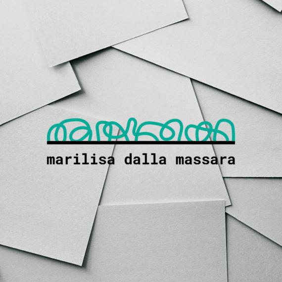 Identità grafica realizzata per Marilisa Dalla Massara, copywriter. Design di Marianna Milione.
