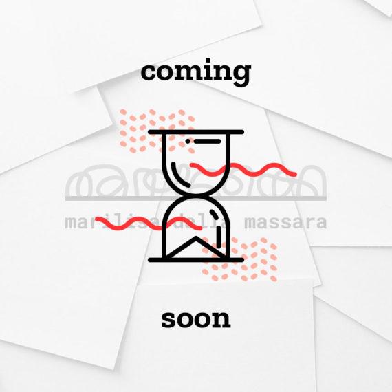 Coming soon: identità grafica realizzata per Marilisa Dalla Massara, copywriter. Design di Marianna Milione.