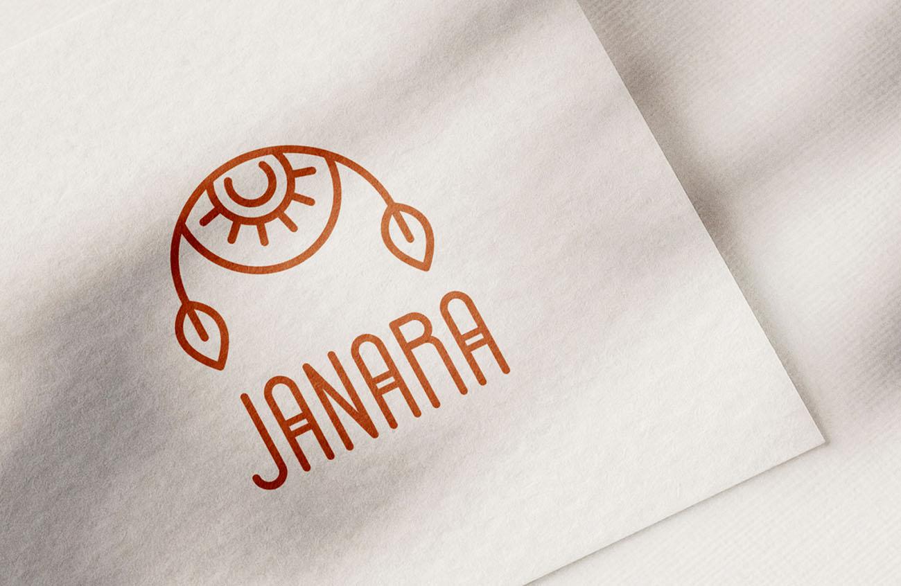 Logo principale dell'identità grafica di Janara. Progetto realizzato da Marianna Milione.