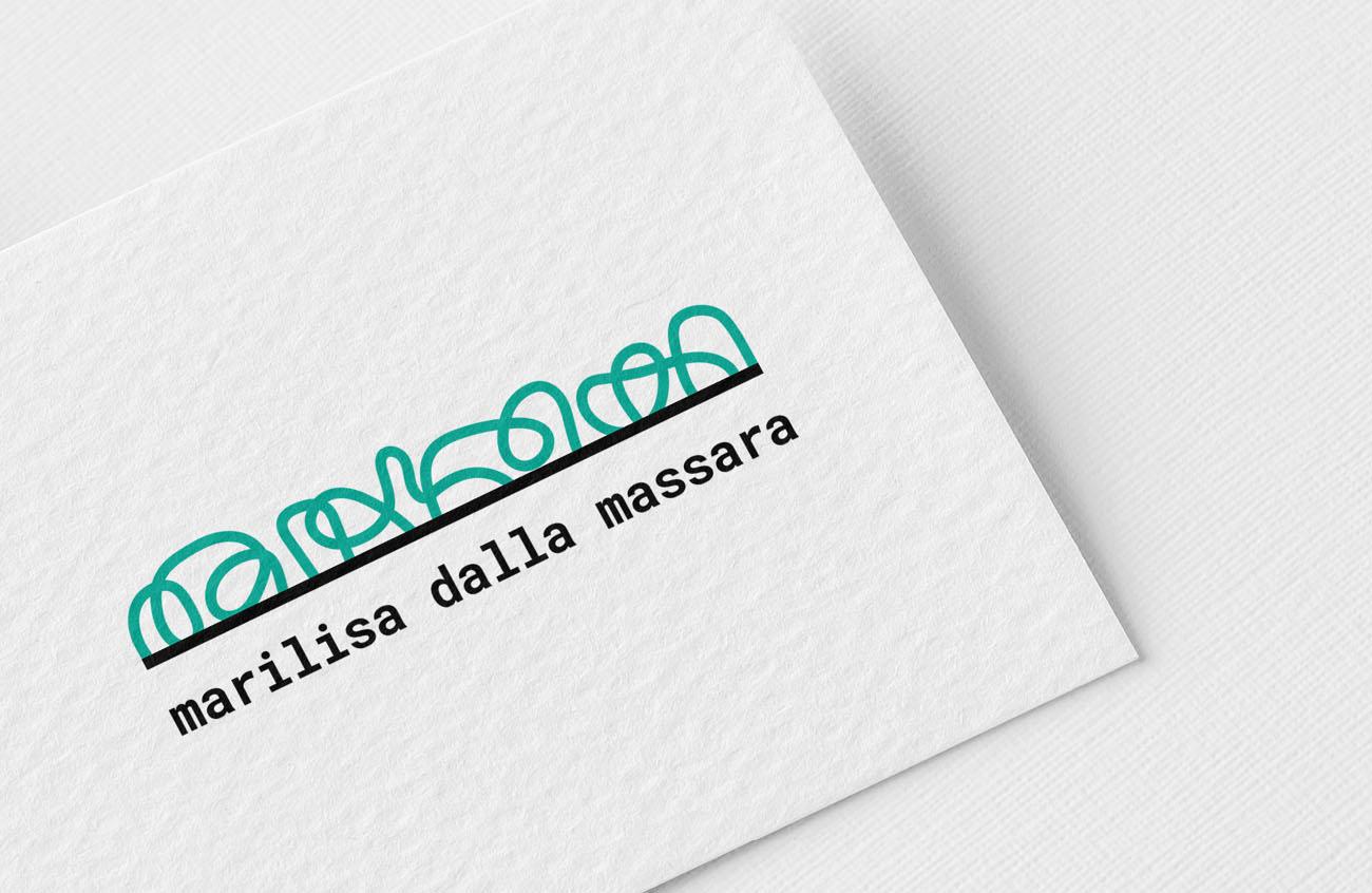 Logo principale dell'identità grafica di Marilisa Dalla Massara. Progetto realizzato da Marianna Milione.