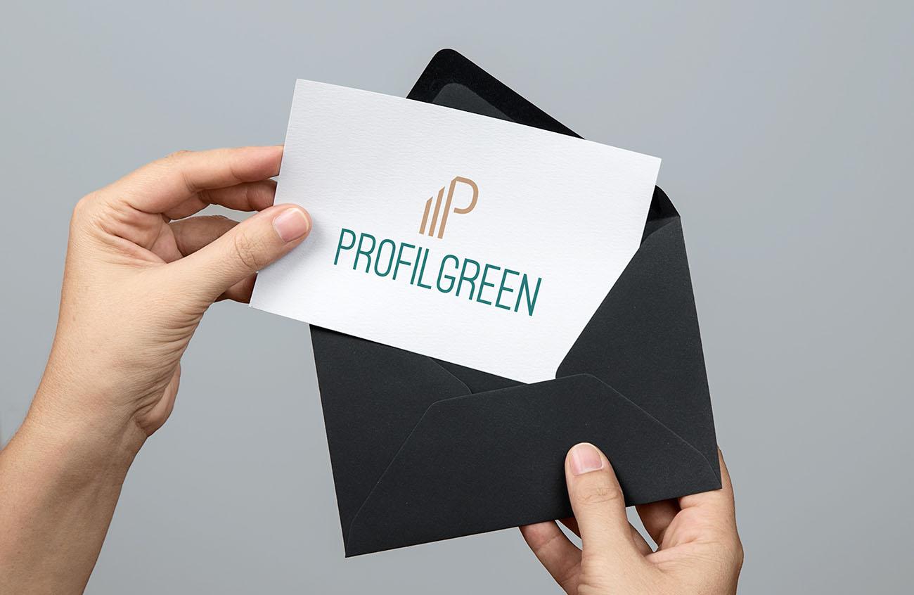 Logo principale dell'identità grafica di Profilgreen. Progetto realizzato da Marianna Milione.
