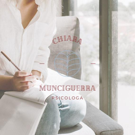 Identità grafica realizzata per Chiara Munciguerra, psicologa. Design di Marianna Milione.