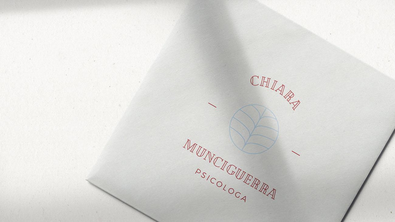 Logo principale dell'identità grafica di Chiara Munciguerra psicologa. Progetto realizzato da Marianna Milione.