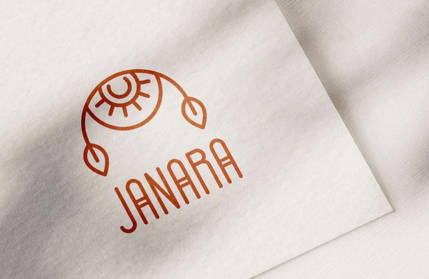 Identità visiva personalizzata per Janara, design di Marianna Milione