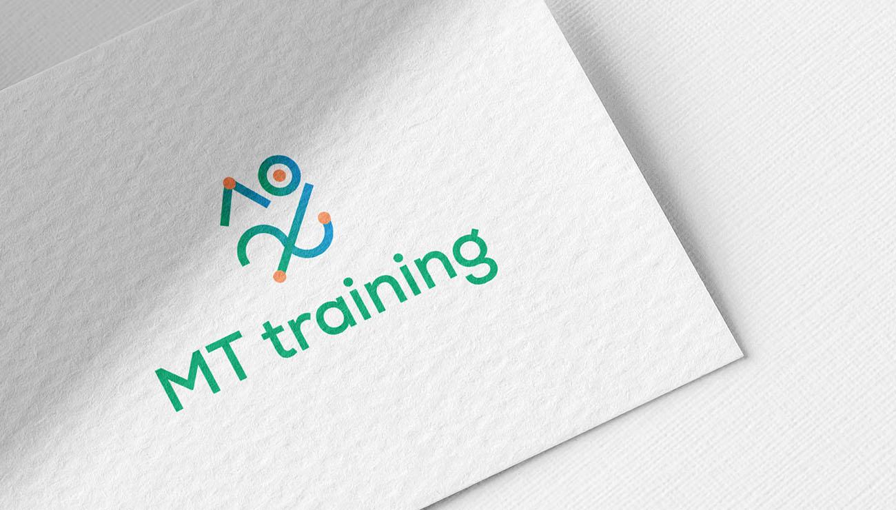 Logo principale per MT Training, grafica di Marianna Milione