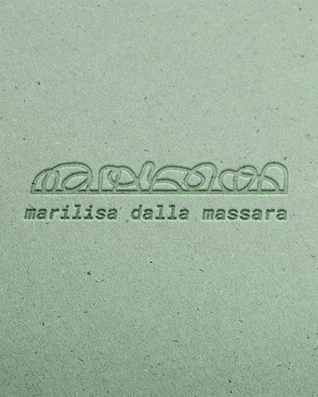 Identità visiva personalizzata per Marilisa Dalla Massara, design di Marianna Milione