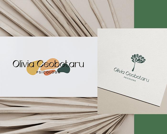 Identità visiva personalizzata per Olivia Ceobotaru, design di Marianna Milione