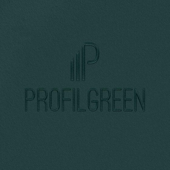 Identità visiva personalizzata per Profilgreen, design di Marianna Milione