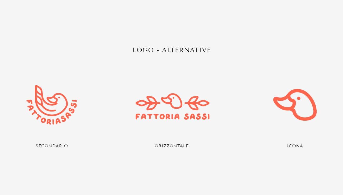 """Come ho creato un'identità visiva con la community di Instagram. Le alternative di logo per """"Fattoria Sassi"""""""