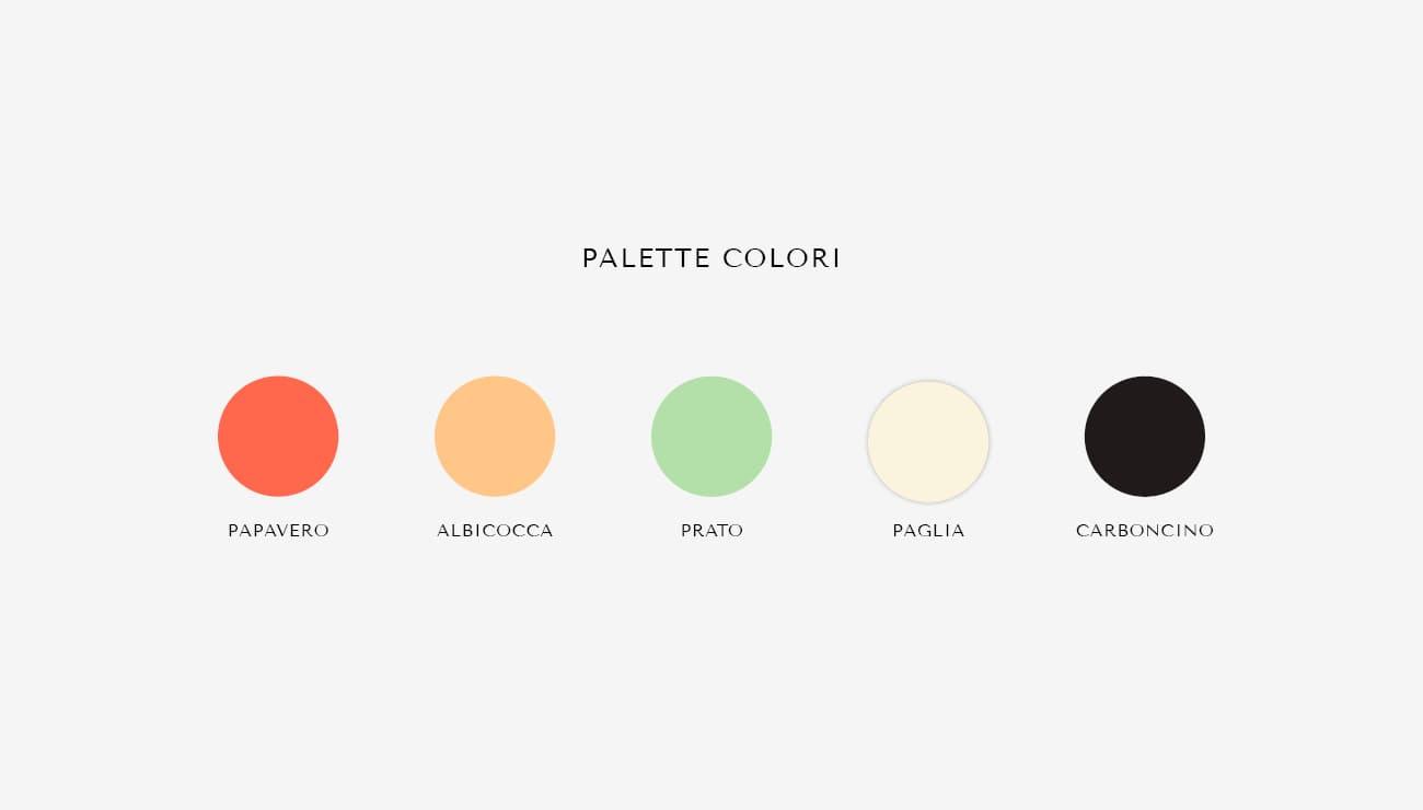 """Come ho creato un'identità visiva con la community di Instagram. La palette colori per """"Fattoria Sassi"""""""