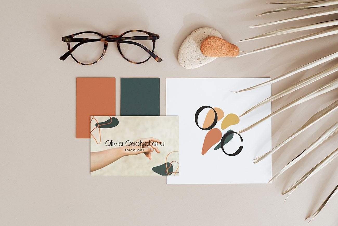 Identità visiva pro per Olivia Ceobotaru, grafica di Marianna Milione