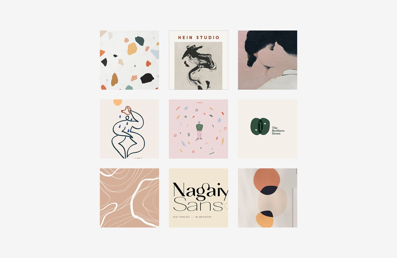 Moodboard per Olivia Ceobotaru, grafica di Marianna Milione