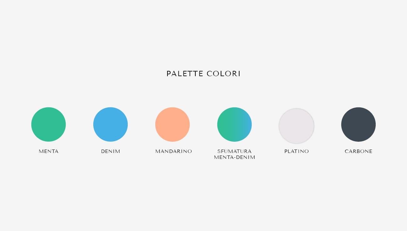Palette colori per MT Training, grafica di Marianna Milione