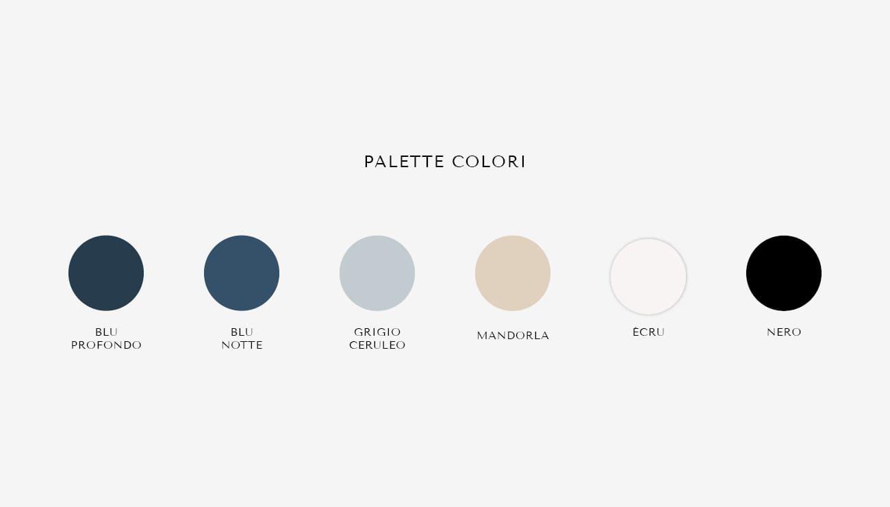 Palette colori per Tati Murgia, grafica di Marianna Milione